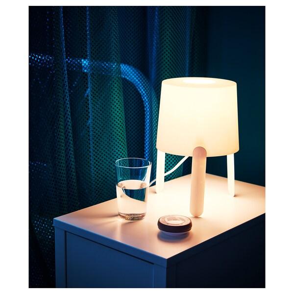 TVÄRS Lámpara de mesa, blanco