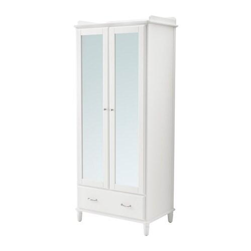 TYSSEDAL Armario Blanco/espejo 88 x 58 x 208 cm - IKEA