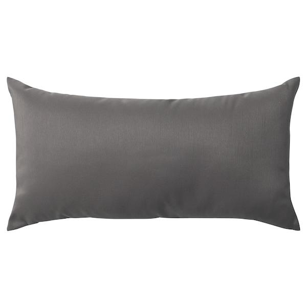 ULLKAKTUS Cojín, gris oscuro, 30x58 cm