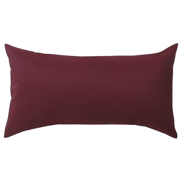 ULLKAKTUS Cojín, rojo oscuro, 30x58 cm
