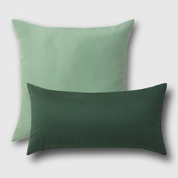 ULLKAKTUS Cojín, verde oscuro, 30x58 cm