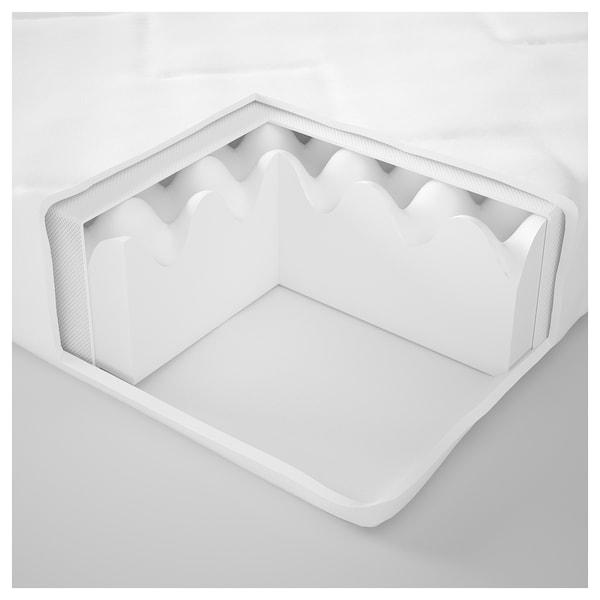UNDERLIG colchón espuma cama júnior blanco 160 cm 70 cm 10 cm