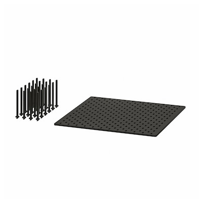 UPPDATERA Panel perforado cajón, antracita, 60 cm