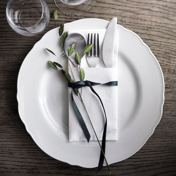 UPPLAGA Plato, blanco, 28 cm