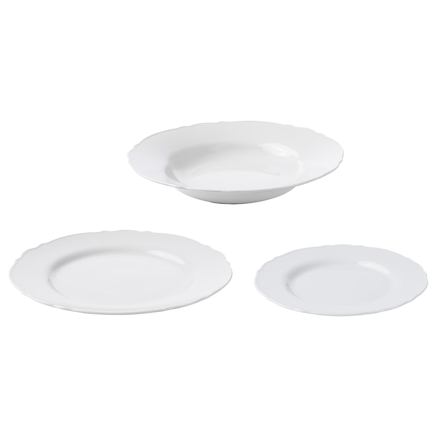 UPPLAGA Vajilla 18 piezas blanco