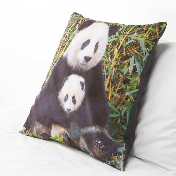 URSKOG Cojín, Panda multicolor, 50x50 cm