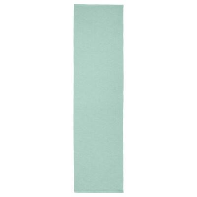UTBYTT Camino de mesa, turquesa claro, 35x130 cm