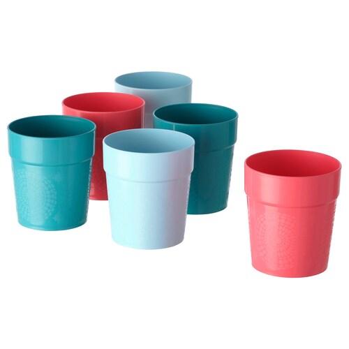 UTEFEST vaso colores variados 9 cm 29 cl 6 unidades