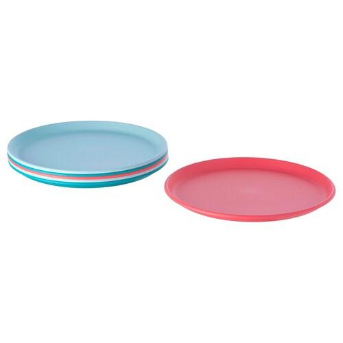 UTEFEST plato colores variados 21 cm 6 unidades