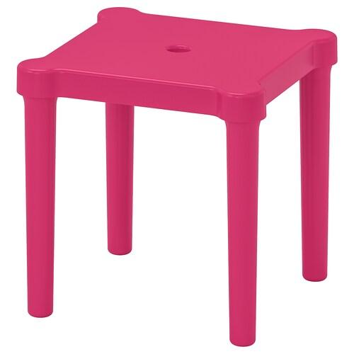 UTTER taburete niños int/ext/rosa 28 cm 28 cm 27 cm