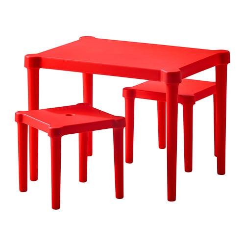 UTTER Mes niño+2 taburt, rojo int/ext rojo - Últimas unidades en IKEA L'Hospitalet