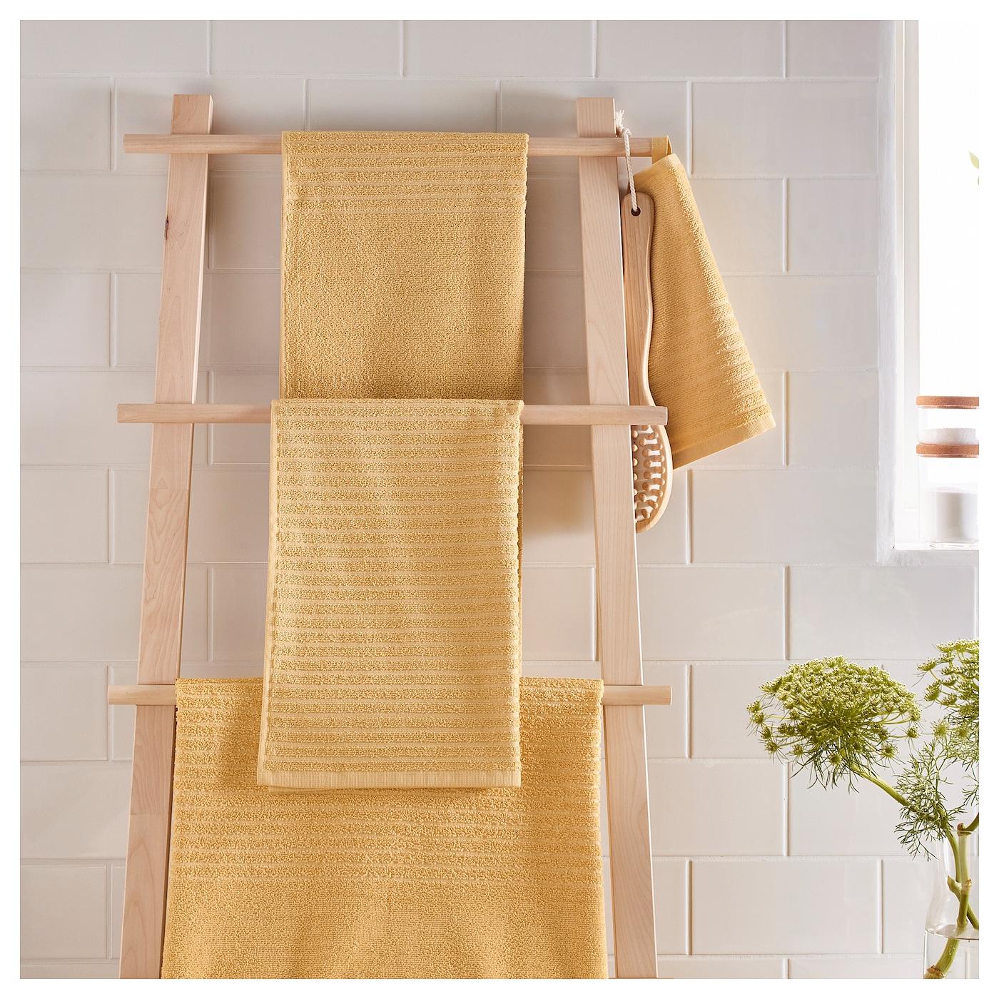 V gsj n toalla de ba o amarillo claro 70 x 140 cm ikea - Toallas de bano ikea ...