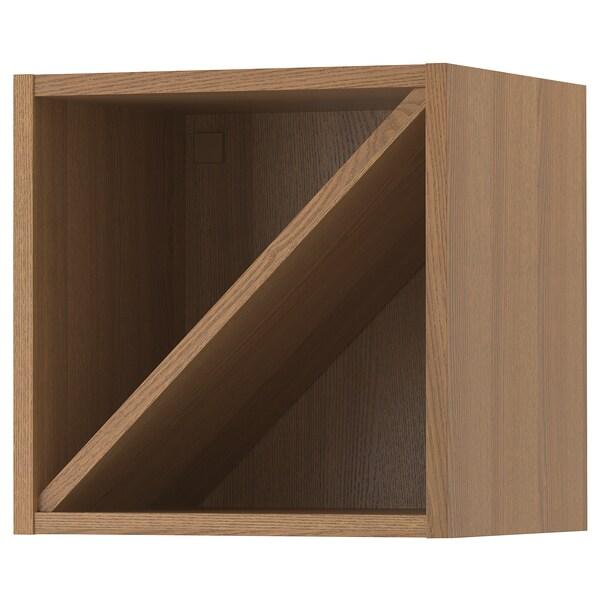 VADHOLMA Botellero, marrón, fresno c tinte IKEA