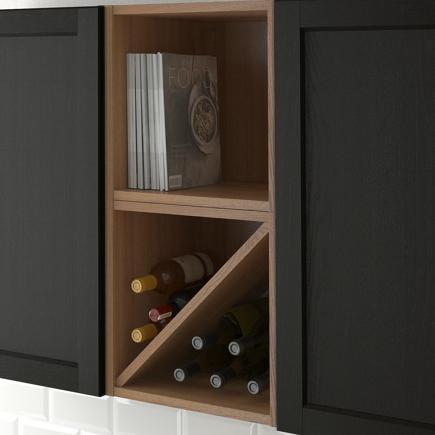 VADHOLMA Botellero marrónfresno c tinte 40x37x40 cm