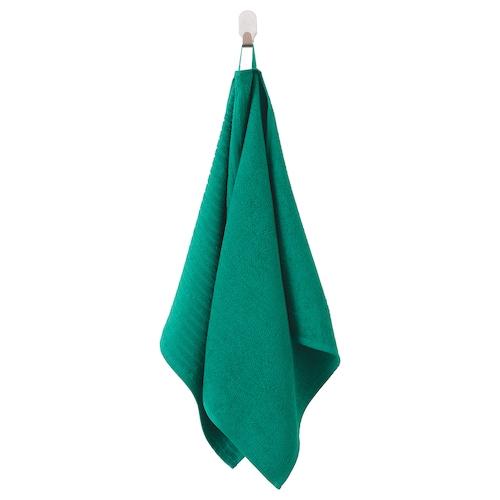 VÅGSJÖN toalla de mano verde oscuro 100 cm 50 cm 0.50 m² 400 g/m²