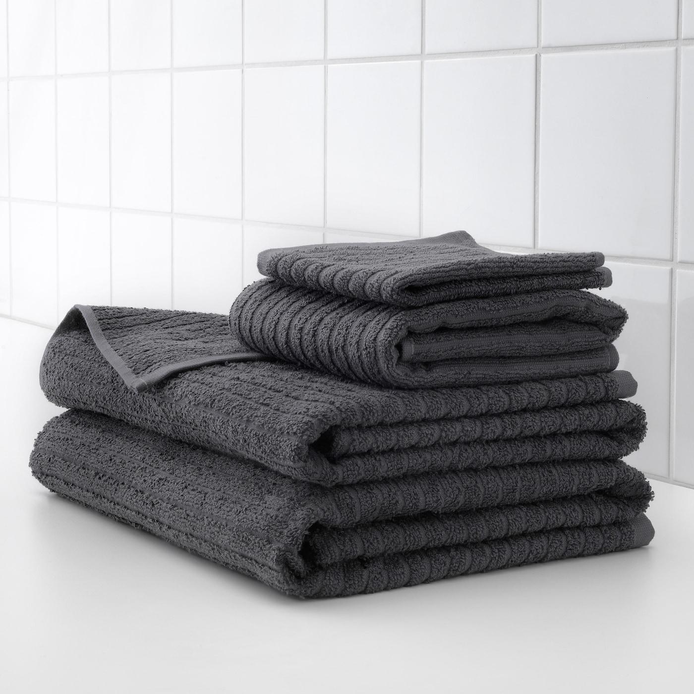 VÅGSJÖN Toalla de baño - gris oscuro 70x140 cm