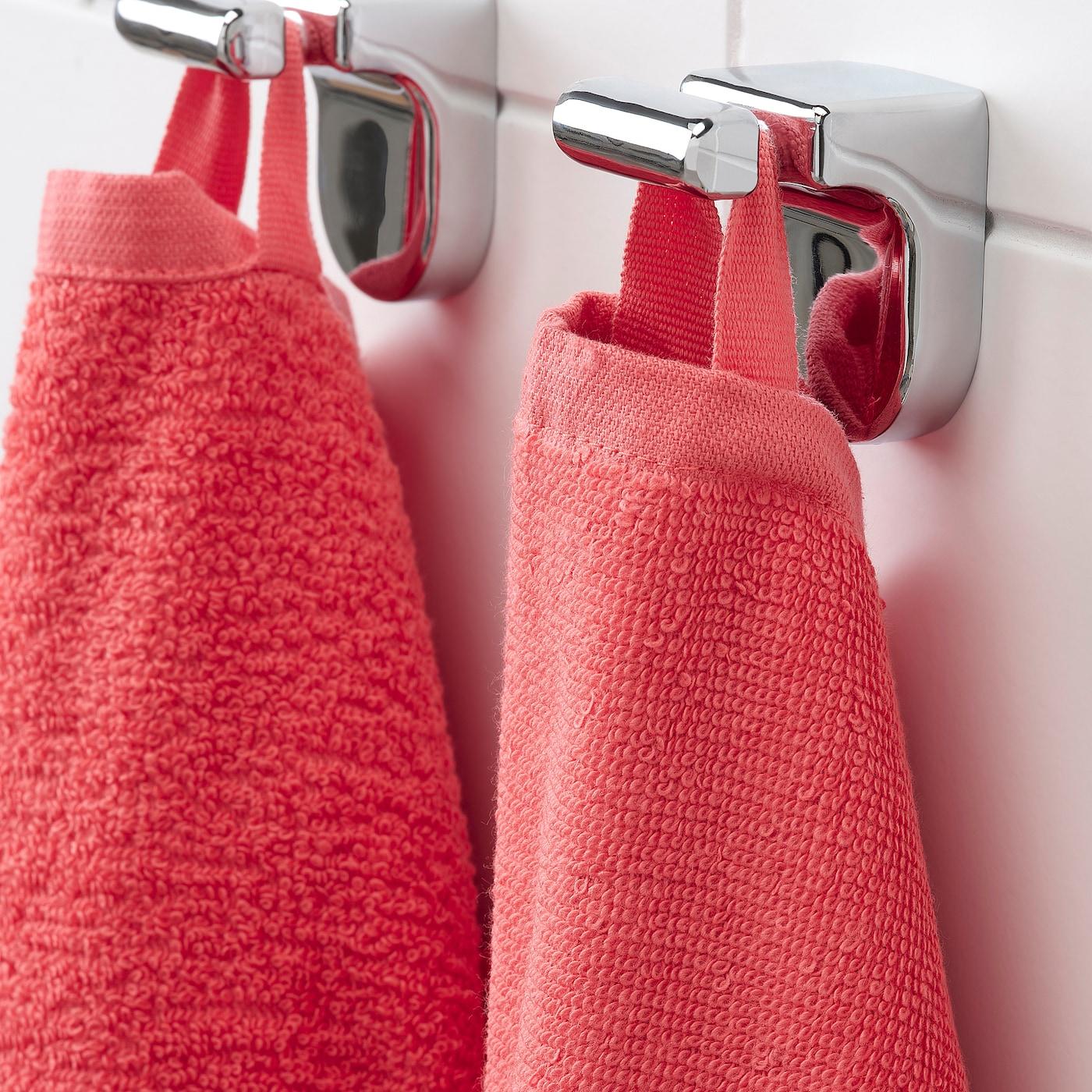 VÅGSJÖN Toalla de baño - rojo claro 70x140 cm