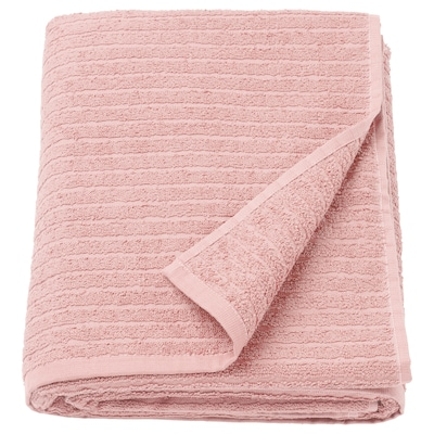 VÅGSJÖN Toalla de baño, rosa claro, 100x150 cm