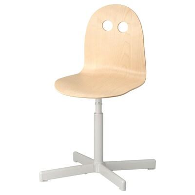 VALFRED / SIBBEN Silla escritorio niño, abedul/blanco