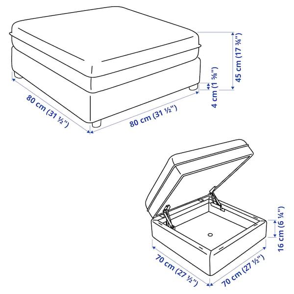 VALLENTUNA Módulo asiento con almacenaje, Hillared beige