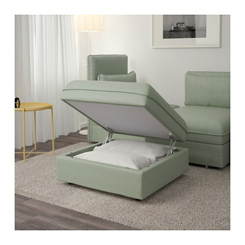 Vallentuna m dulo asiento con almacenaje hillared verde for Asiento con almacenaje