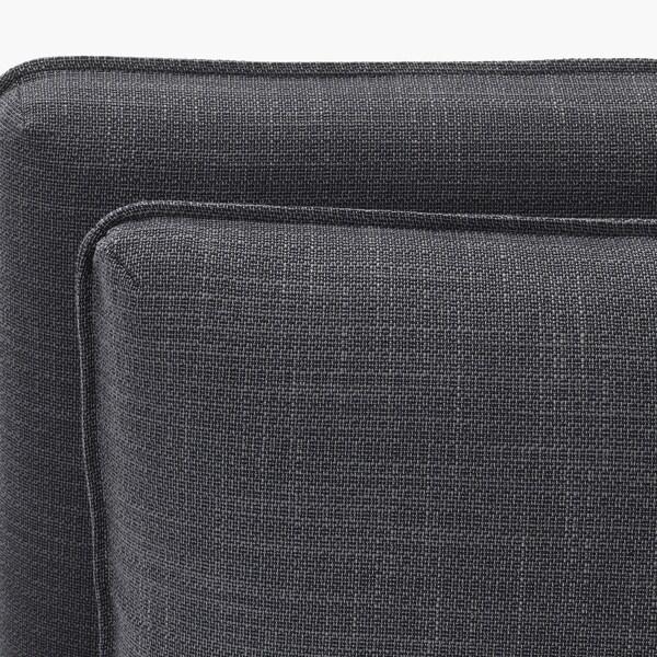 VALLENTUNA Módulo asiento +respaldo, Hillared gris oscuro
