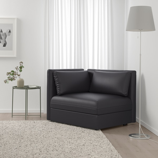 VALLENTUNA Módulo asiento +respaldo, Murum negro
