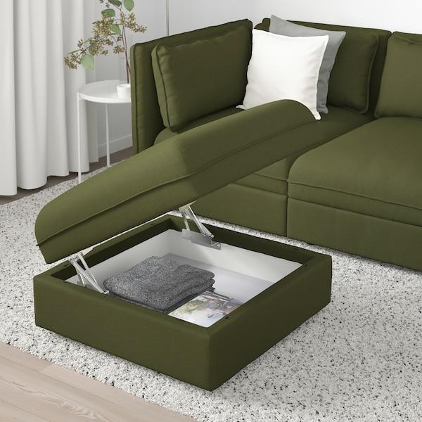 VALLENTUNA módulo asiento con almacenaje Orrsta verde oliva 80 cm 80 cm 45 cm