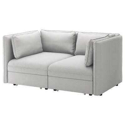 VALLENTUNA Sofá modular 2 + sofá cama 2, Orrsta gris claro