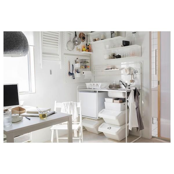 VANGSTA Mesa extensible, blanco, longitud mínima: 120 cm IKEA