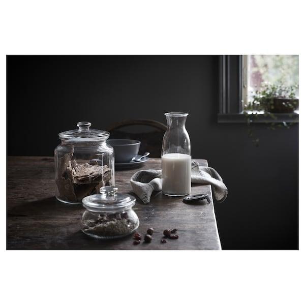 VARDAGEN Bote con tapa, vidrio incoloro, 1.9 l