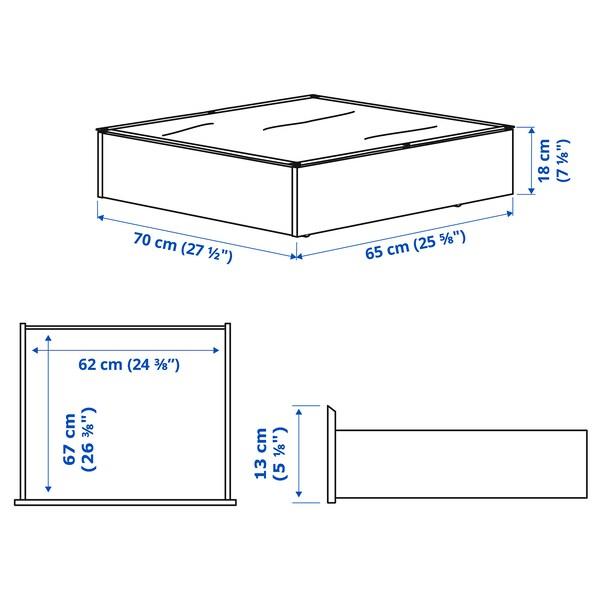 VARDÖ Cajón de cama, blanco, 65x70 cm
