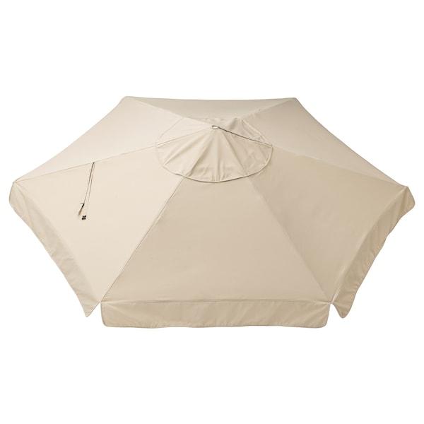 VÅRHOLMEN Tela sombrilla, beige, 300 cm