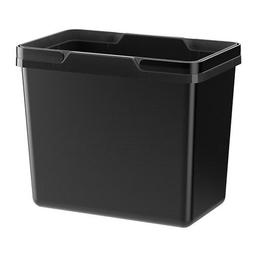 VARIERA - Cubo para reciclar, 22 l, negro