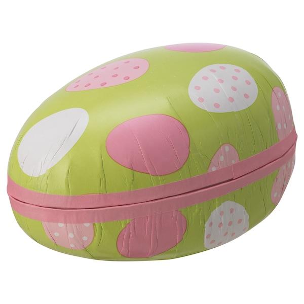 VÅRKÄNSLA Huevo de Pascua, huevo/colores variados blanco, verde, 15 cm