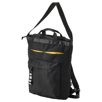 VÄRLDENS Bolsa de viaje, negro, 28x12x44 cm/16 l