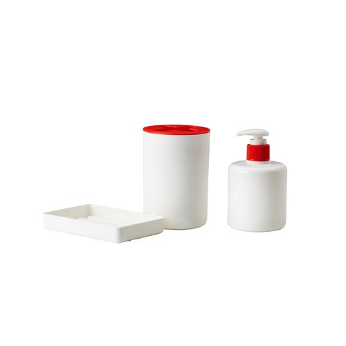 Juegos De Baño Blanco:Bathroom White Set 3 Pieces
