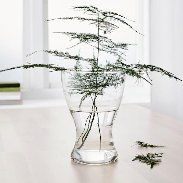 VASEN Florero / jarrón, vidrio incoloro, 20 cm