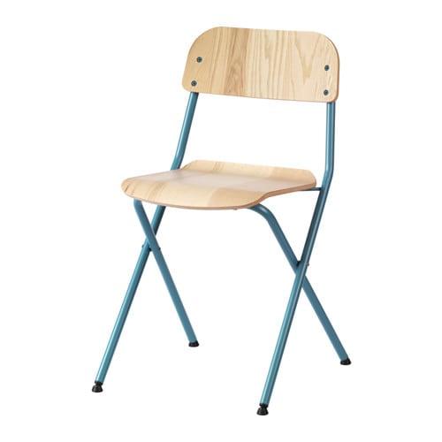 V ssad silla plegable verde azulado chapa fresno ikea for Sillas plegables ikea