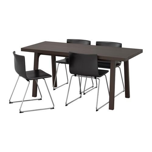 V stanby v stan bernhard mesa con 4 sillas ikea - Sillas con reposabrazos ikea ...