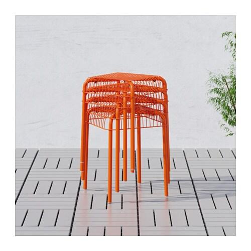 taburete naranja ikea
