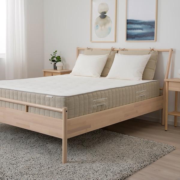 VATNESTRÖM Colchón de muelles embolsados, extra firme/natural, 180x200 cm