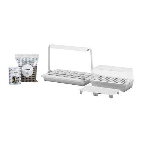 VÄXER Bandeja cultivo 15 alveolos+ilumin IKEA