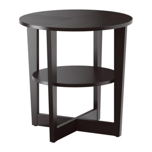 Vejmon mesa auxiliar negro marr n ikea - Ikea mesas auxiliares ...