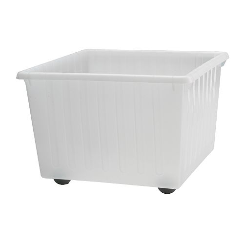Oferta en IKEA Badalona - VESSLA Caja con ruedas, 39x39x28 cm, blanco