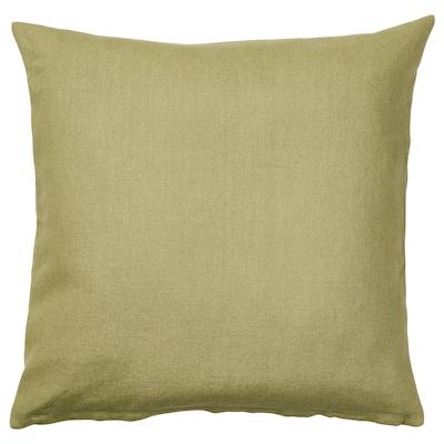 VIGDIS Funda de cojín, beige-verde, 50x50 cm
