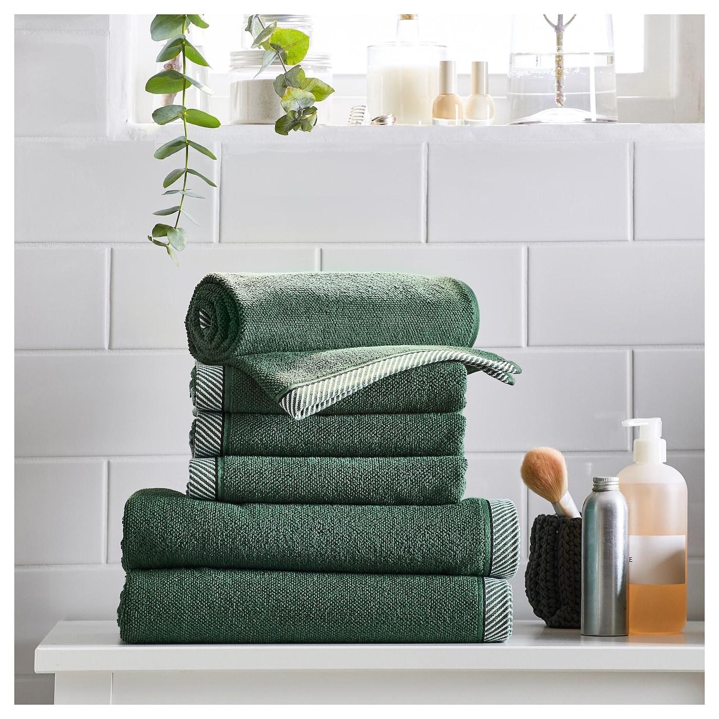 Vikfj rd toalla de ba o verde 100 x 150 cm ikea - Toallas de bano ikea ...