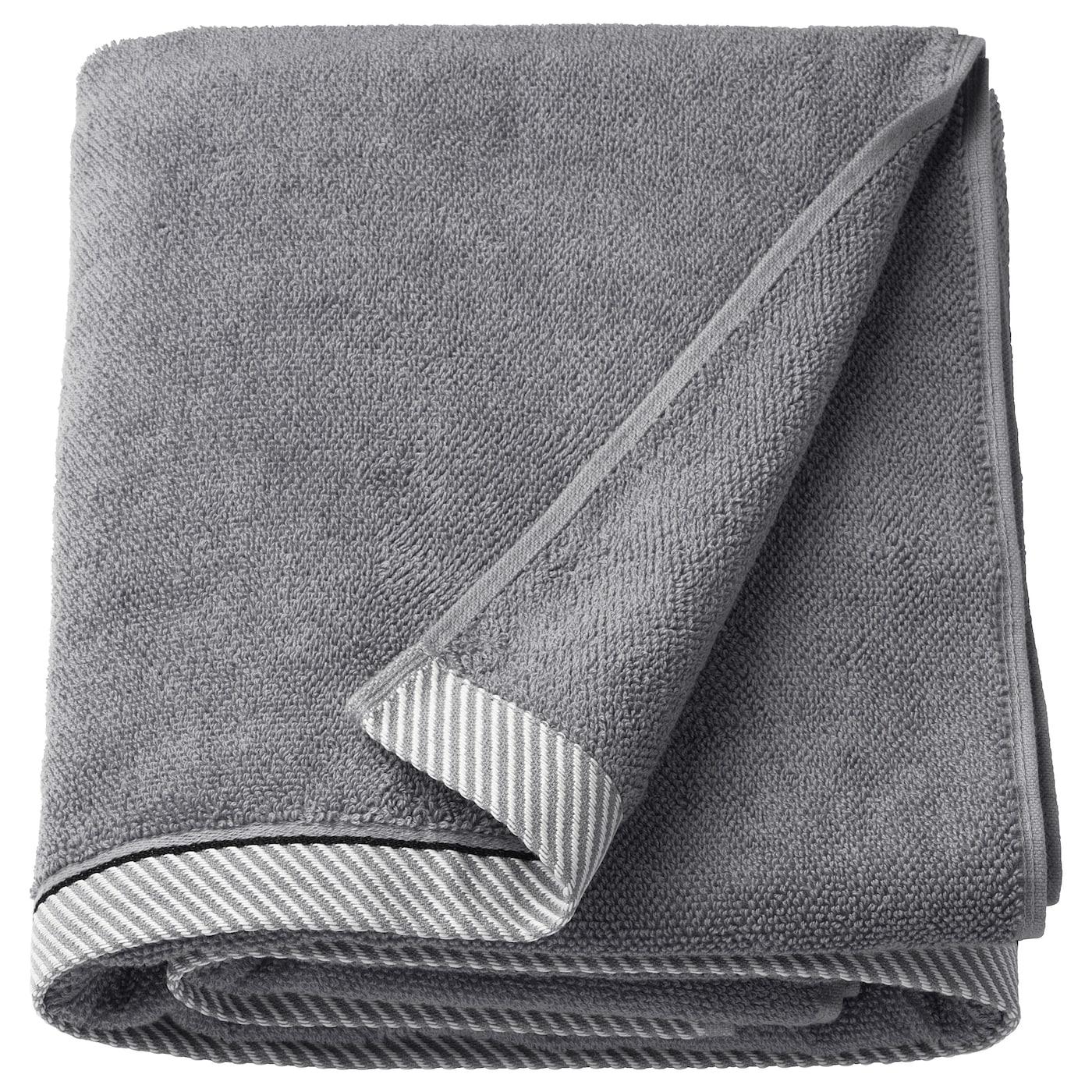 VIKFJÄRD Toalla de baño - gris - IKEA