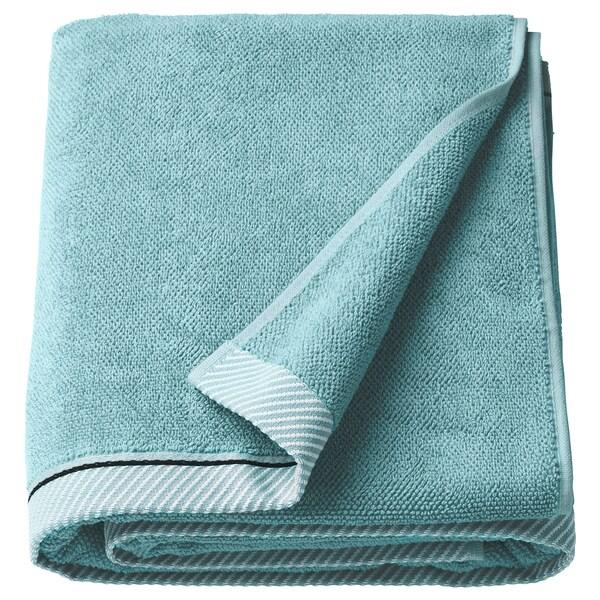 VIKFJÄRD Toalla de baño, azul claro, 100x150 cm