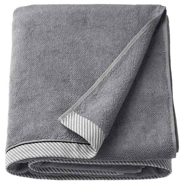 VIKFJÄRD Toalla de baño, gris, 100x150 cm